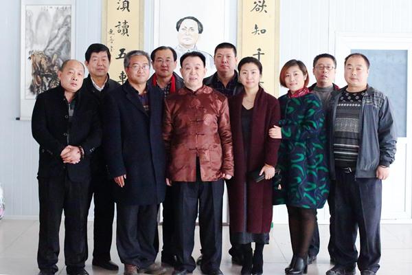 中国书法艺术家协会副主席尤连贵先生来唐